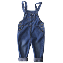 New Kids Denim Jumpsuit Children Overalls Jeans Pants Boys and Girls Casual Jeans Pants 1-9T(China)