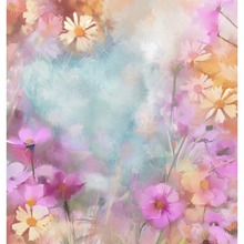 Oil Painting Flowers Backgrounds for sale High-grade Vinyl cloth Computer printed custom backdrops