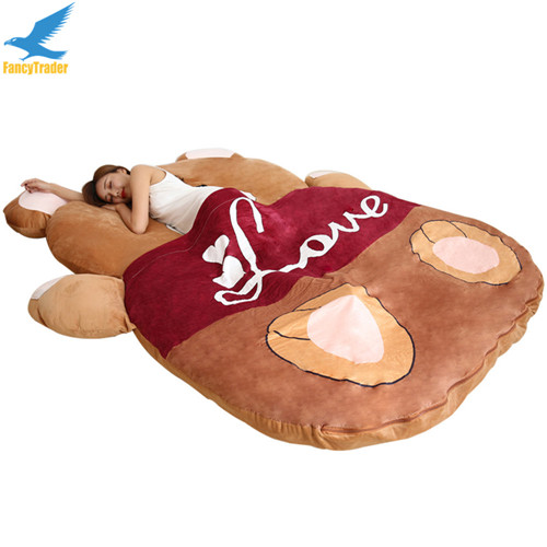 Fancytrader 2018 Giant Plush Stuffed Cartoon Love Bear Sofa Bed Sleeping Bed with Padding 2 Sizes (1)