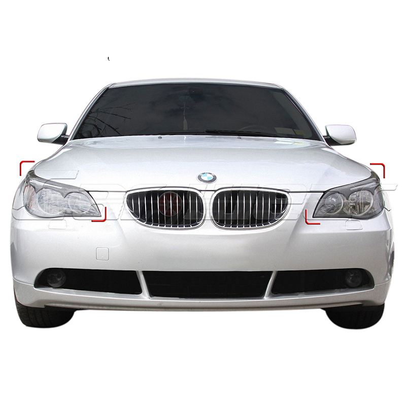 E60 FRP Primer Car Headlight Eyelid Eyebrows Cover Trim Sticker for BMW E60 2005-2011<br>
