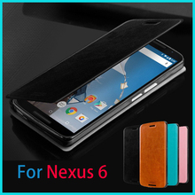 New Arrival Cell Phone Case For Nexus 6 Luxury Flip Lether Case For google nexus 6 Leather Stand For Nexus6 Free Shipping