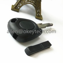 Free Shipping transponder key blank for Renault / key blank fob wholesale and retail.Renault chip shell