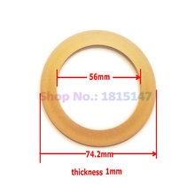 2pcs, Piston ring 56*74.2*1 for Oilfree air compressor spare parts PTFE(China)