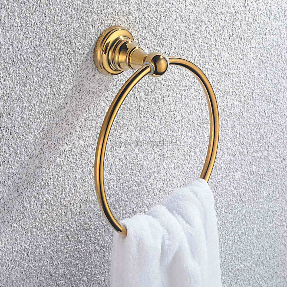 Stainless steel &amp; Zinc alloy Golden Finished Towel Ring,Bathroom Accessories Products Gold Towel Holder,Towel Rack,Towel Bar<br><br>Aliexpress