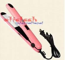 by dhl or ems 200 pcs Pink Electronic chapinha nano titanium Straightening corrugated Curling styling tools