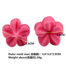 2PCS P&N Flower Petal Leaf shape Silicone Fondant Soap 3D Cake Mold Cupcake Jelly Candy Chocolate Decoration Baking Tool FQ3191