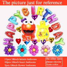 free shipping Elmo Balloons 30pcs happy birthday set balloons for Sesame Street party Balloons foil material
