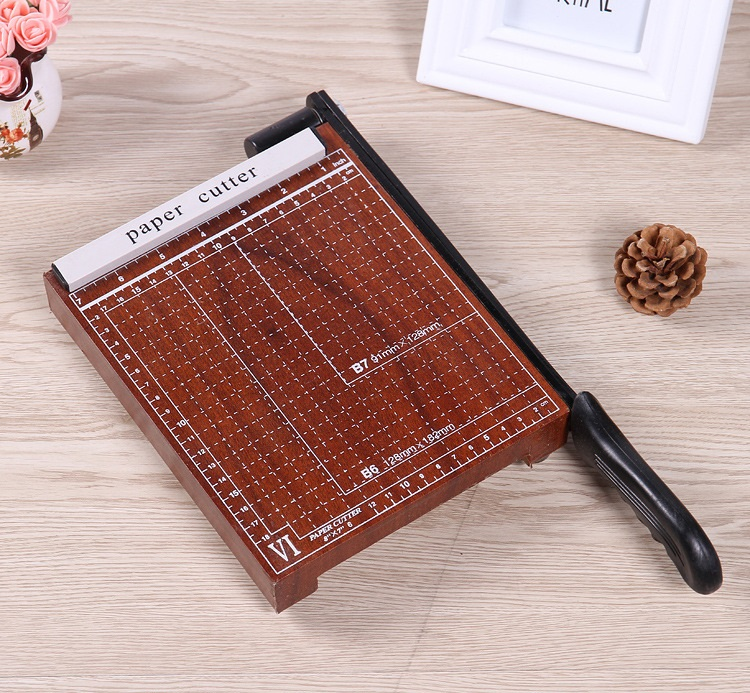 New A5 Paper Photo Cutter Guillotine cutting machine Trimmer Wood Base 5-10 Sheets with Grid<br>