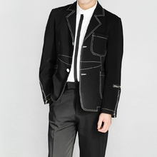 XS-5XL New 2017 Men's clothing fashion Star GD hair stylist Original Slim press Line casual Suit plus size Singer costumes(China)