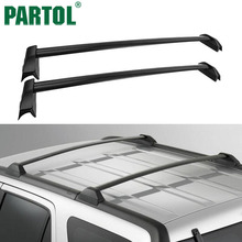 Partol Car Roof Rack Cross Bars Roof Luggage Carrier Roof Rail 60KG/132LBS For Honda CRV 2002-2006 with existing side rails(China)
