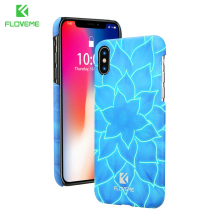 FLOVEME 3D Lotus Phone Case for iPhone X , Luminous Flower Mobile Cover Phone Bag Cases for iPhone 7 8 8 Plus 4.7 - 5.8 inch(China)