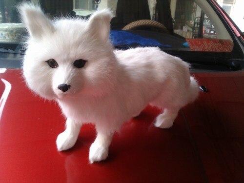 simulation white fox large 35x22cm model toy polyethylene &amp; furs fox handicraft ,decoration gift t403<br><br>Aliexpress