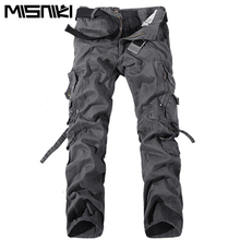 MISNIKI 2017 New Army Military Camouflage Overalls Bags Pants Overalls Big Yards Men Camo Combat Work Trousers Overalls(China)