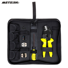 Meterk 4 In 1 multitool Wire Crimper Tools Kit Engineering Ratcheting Terminal Crimping Plier + S2 Screwdiver +end Terminals