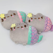 Hot Sale 20cm Soft Plush The Little Mermaid Style PUSHEEN CAT Stuffed Toys Cute Plush Toys for Children's Cartoon Dolls(China)