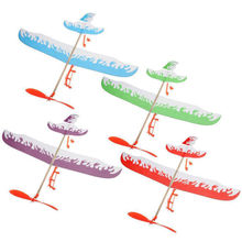 New Elastic Rubber Band Powered Flying Airplane Plane Glider DIY Assembly Model Kids Science Educational Toys Christmas Gift(China)