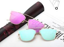 Manufactures Wholesale China Sunglasses Fashion New Style Reflective Personality Metal Sunglasses