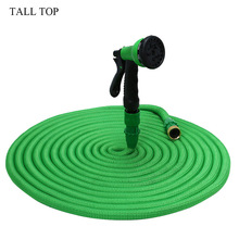British TALL TOP 25FT-100FT Thread Garden Hose Expanding Magic Flexible Watering Hose Plastic Hose Pipe With Spray Gun Tube Hose(China)