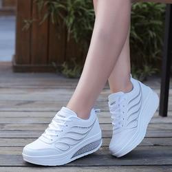 Женские дизайнерские кроссовки VTOTA, на платформе, белые повседневные туфли для тенниса или баскетбола, дамская обувь на танкетке