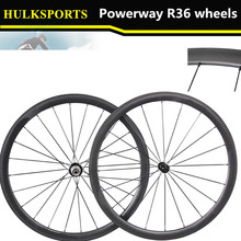 Single Wheel 2016 hot sell factory cost carbon wheel 38mm carbon wheels carbon wheels powerway r36 hub HK-WH-38C-W25-R36(China)