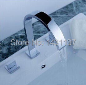 wholesale and retail high quality brass material  Luxury IN Wall Mounted Brass Chrome basin Mixer sink faucet<br><br>Aliexpress