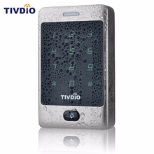 TIVDIO RFID Access Control 125KHZ Touch Keypad Door Access Control System with KDL Metal Case Shell Backlight Keypad F9503D