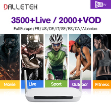 Dalletektv Q9 Full HD IPTV Box Android 6.0 Arabic French IPTV Box IPTV Arab France Live Sports Channels 1 Year IPTV Subscription(China)