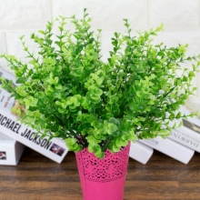 1pcs Eucalyptus Green Grass Artificial Plants For Plastic Flowers Household Decoration Plant with leaf Setting wall decoration