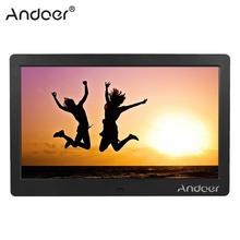 "Andoer 10"" HD Wide Screen LCD Digital Photo Picture Frame High Resolution MP4 Video Player with Remote Control Gift Present"