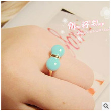 ra505 2016 Korean fashion Candy colors Bow drop oil Ring