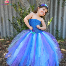 Pretty Peacock baby girl Tutu Dress Birthday Outfit Photo Prop Halloween Costume Peacock Wedding theme Newborn to young Teen(China)