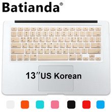 New Korean Keyboard US Version Silicone Protector Stickers Skin For Apple Macbook Air 13 Mac Pro 13 15 17 Retina Keyboard Cover