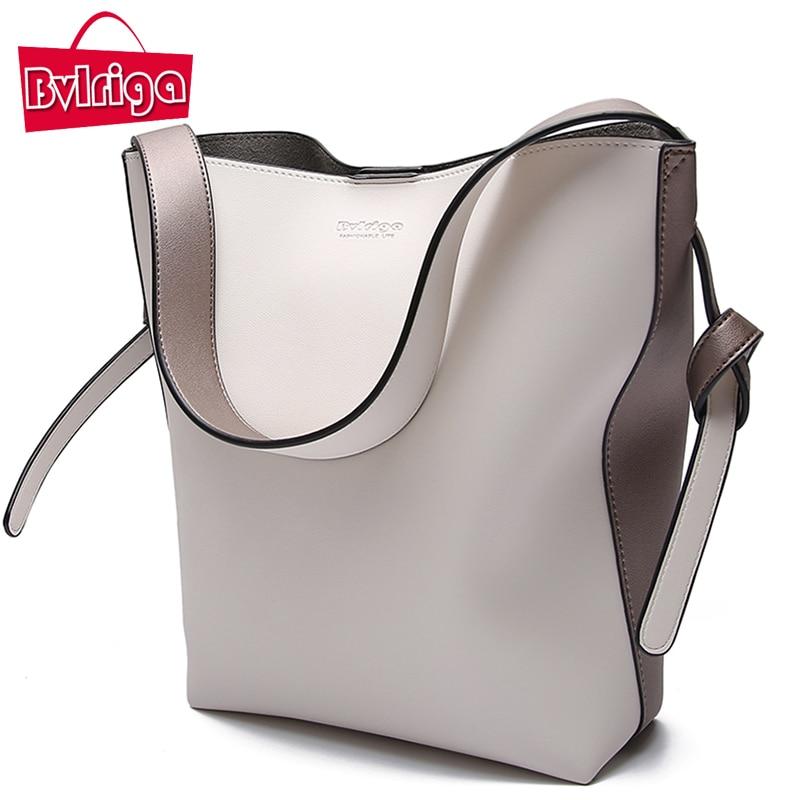 BVLRIGA Brand Luxury Handbags Women Bag Designer Women Leather Bag Female Shoulder Bag Women Messenger Bags Bucket Tote Big 2018<br>
