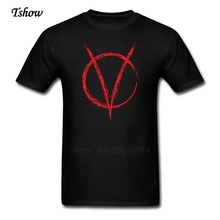 V Is For Vendetta W Was For War Tshirt Men Casual Summer Print Round Neck Short Sleeve Male Tops Pure Cotton Tee Shirt Boys Tee(China)