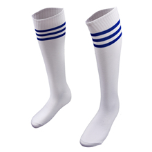 Hot Navy Blue Football Striped Tube Socks Soccer lacrosse Rugby Sports Socks Knee High Socks