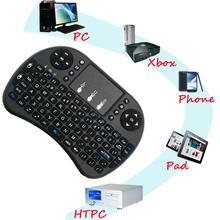 Original I8 Mini Wireless Keyboard with Touchpad 2.4G Fly Air Mouse Combo Teclado for HDPC Win7 Pad for Xbox360 for PS3 TV Box