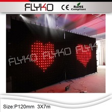 CE RoHS china sexy video curtain led display wall hot vide china sexxx video led curtain(China)