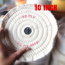 10'' 250mm White Sawing Cloth Polishing Wheel for Various Glazing Machine to Buffing Metals & Grinding Crystal 50 Ply Covers