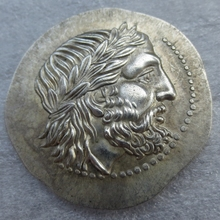 G(11)Rare Ancient Greek Silver Tetradrachm Coin of King Philip II of Macedon - 323 BC COPY COINS(China)