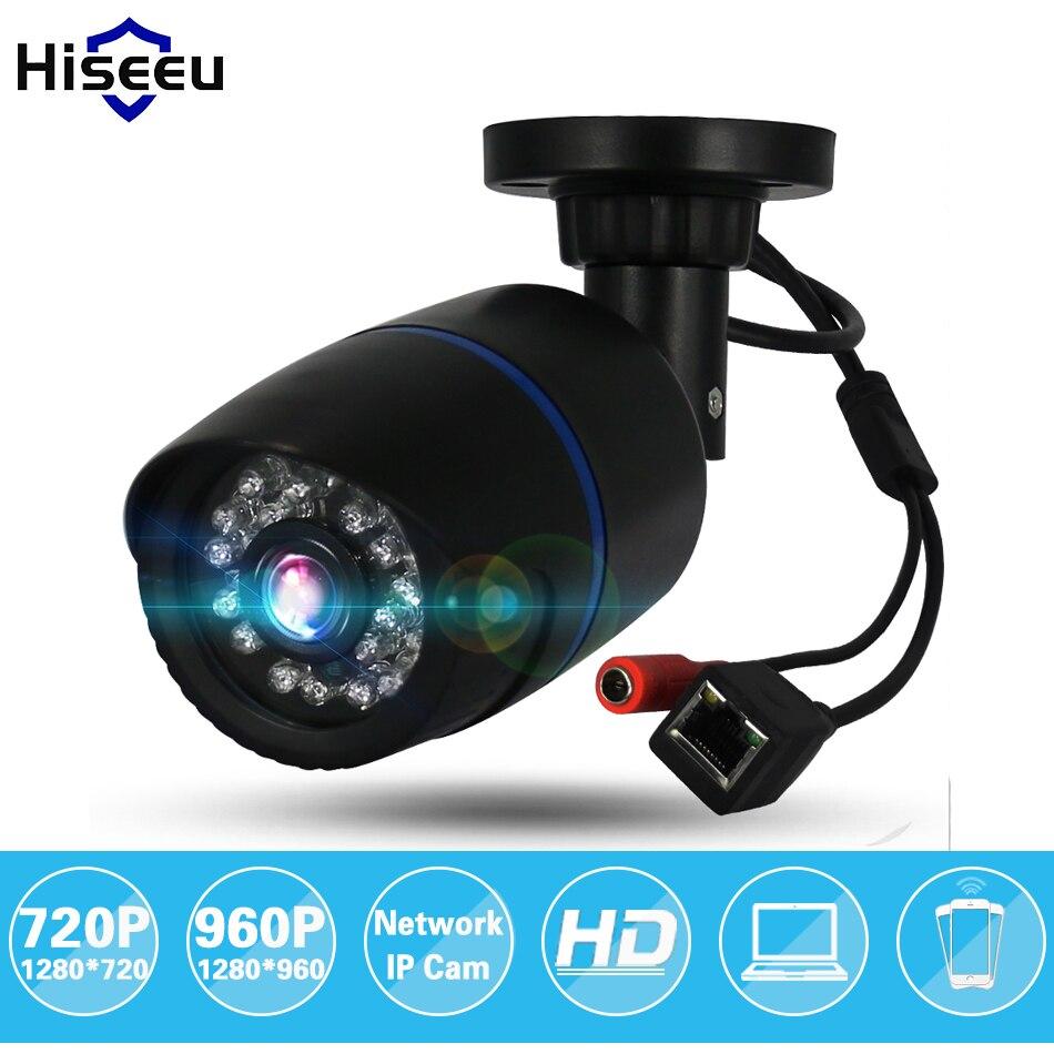 Hiseeu 720P/960P 1.0MP/1.3MP HD Network CCTV IP Camera Surveillance Camera H.264 P2P Remote Onvif 2.0 IR Security Bullet Camera<br><br>Aliexpress