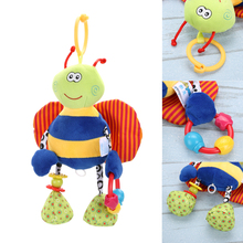 1 pcs Plush Doll Baby Toy Cute Animal Bee Plush Dolls Teether Baby Boys Girls Kids Newborn Soft Bedding Car Hanging Toys(China)