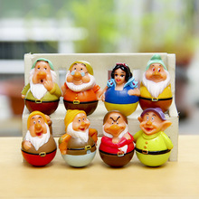 8pcs/1lot Princess Snow White Dwarfs 4CM Toys Action Figure Brinquedo Toy Kids Christmas Gift #1708 Free Shipping