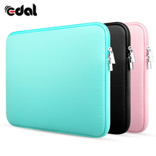"EDAL Zipper Laptop Sleeve Case For Macbook Laptop AIR PRO Retina 11"" 12"" 13"" 14"" 15"" 15.6 inch Notebook Bag Cables Phone Bags(China)"