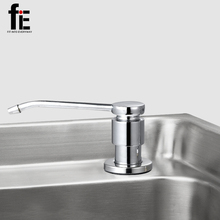 fiE 350ML Stainless Steel Kitchen Sink Soap Dispenser Kitchen Touch Soap Dispenser