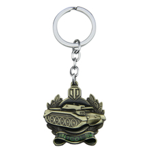Hot Online Game wot World Of Tanks Keychain Knicks Honor Medal Style Keyring Antique Bronze