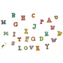 Children English Letters luminous stickers fluorescent wall decals kids bedroom baby puzzle cartoon wallpaper glow in the dark(China)