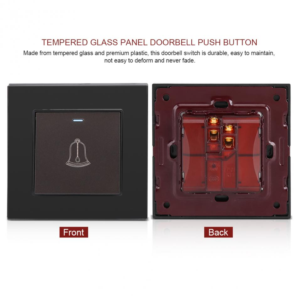 Stainless Steel Doorbell Push Button Switch Touch Panel HV