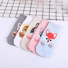 Buy 10 Pair Fashion Cartoon Socks Rabbit Fox Tiger Women Foot prints 3D Animals Style Warm Cotton Socks Lady Floor Socks Female for $16.49 in AliExpress store