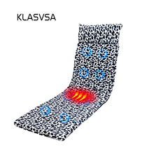 KLASVSA Electronic Heating Vibrator Massage Mattress Head Neck Back Massage Bed Therapy Cushion Relaxation Health Care Vibrador