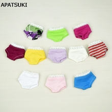 3pcs/lot Colorful Random Underwear Briefs For Barbie Dolls Knickers For Blythe 1/6 BJD Dolls Underpant For Barbie Doll House(China)
